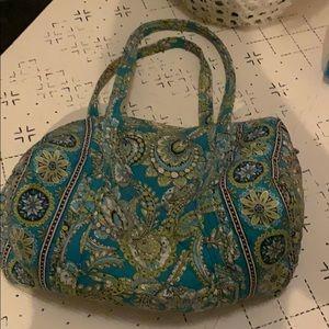 Vera Bradley duffel bag- blue and green